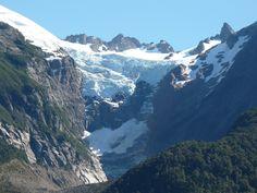 Glaciar Torrecillas,en parque Los Alerces.