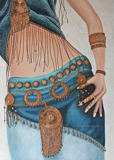 """Gypsy Lady"" by Nadia Bitter Stoll, acrylic on canvas. www.deschdanja.ch"