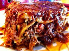 Pulled beef lasagne