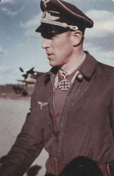 Major Hannes Trautloft  http://www.historicalwarmilitariaforum.com/topic/6937-ritterkreuztr%C3%A4ger-photos-in-color-thread/