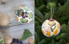 Newly arrived in the Winter Shop, a set of papier mache globe ornaments is ideal for a creative take on Christmas décor, ready to be decked out with custom designs.