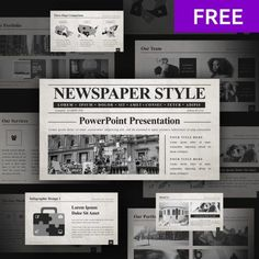 This is a free part of amazing presentation bundle 50 Slides Newspaper Templates Powerpoint 2020 + Bonus: Google Slides Newspaper Template  16:9 screen layout Fully editable Easy to change colors, text and photos Newspaper Template Powerpoint, Powerpoint Background Templates, Presentation Board Design, Presentation Templates, Business Presentation, Powerpoint Design Templates, Powerpoint Themes, Pptx Templates, Newspaper Layout