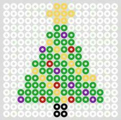 Hama perler bead Christmas lights by christeaandcakes Perler Bead Designs, Hama Beads Design, Perler Bead Art, Melty Bead Patterns, Pearler Bead Patterns, Perler Patterns, Beading Patterns, Bead Embroidery Patterns, Art Patterns