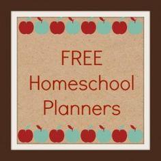 FREE Homeschool Planners - Simply Sherryl