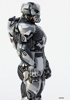 ArtStation - Nanosuit 2 multiplayer character model, Dima Gait