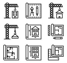 icon packs of building Building Icon, Font Free, Search Icon, Edit Icon, All Icon, Nice Art, Icon Pack, Icon Font, Gradient Color