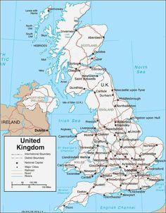 Kaart van Engeland