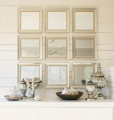 Make Antique Glass with Krylon Looking Glass spray Decorating On A Budget, Interior Decorating, Condo Decorating, Interior Design, Krylon Looking Glass, White Mirror, Mirror Glass, Mirror Mirror, Mirror Room