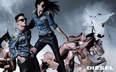 The FW 2014 #Diesel Ad campaign, art direction by #NicolaFormichetti photo by #NickKnight