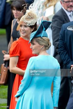 Crown Princess Mary of Denmark, and Sophie, Countess of Wessex, attend day 2 of Royal Ascot at Ascot Racecourse on June 15, 2016 in Ascot, England. (Photo by Julian Parker/UK Press via Getty Images)