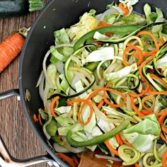 """Paleo Teriyaki Stir-Fry Zoodles, Gluten-Free 