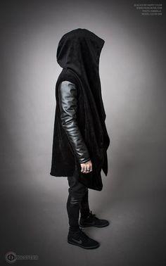 Winter Fur Mantle with leather sleeves Зимняя от FreakButik