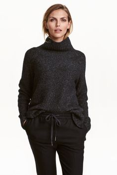 Knitted polo-neck jumper 29.99 H&M