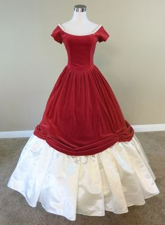 Find beautiful Civil War Ball Gowns and Southern Belle dresses for historical balls, southern belle weddings and Civil War weddings, pageants, Civil War reenactments, and historically themed events. Red Ball Gowns, Vintage Ball Gowns, Ball Gowns Evening, Ball Gowns Prom, Ball Gown Dresses, Evening Gown Pattern, Victorian Era Dresses, Southern Belle Dress, Civil War Dress