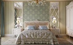 Визуализация спальни в классическом стиле в г.Атырау #дизайн #интерьера #астана #казахстан #атырау #столовая #спальня #классика #проект #квартира #проектыдомов #проектквартиры #дизайнпроект #kazakhstan #astana #dinningroom #design #interior #classic #interiordesign #project #bedroom
