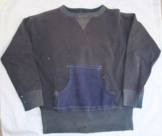 SICK! vtg 1940's 1950's 1960's handworked double V sweatshirt by oddmods, $149.59