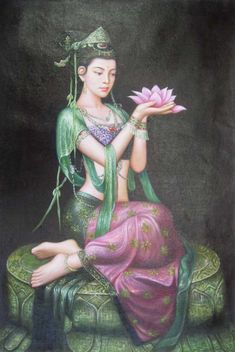 Quan Yin- beautiful female boddhisatva and goddess of compassion