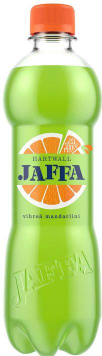 Hartwall Jaffa Vihreä Mandariini on saanut makunsa kiivistä ja mandariinista.
