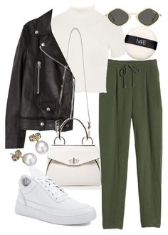 """Untitled #22358"" by florencia95 ❤ liked on Polyvore featuring NARS Cosmetics, Rebecca Taylor, Topshop, Acne Studios, Handle, Filling Pieces and London Road"