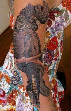Black cockatoo tattoo