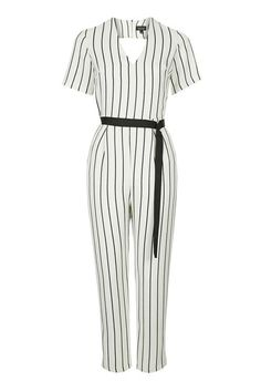 b23522737a9f TopShop Striped Tapered Jumpsuit ( 125) ❤ liked on Polyvore featuring  jumpsuits