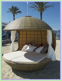 beach lounge chair outdoor daybed-#beach #lounge #chair #outdoor #daybed Please Click Link To Find More Reference,,, ENJOY!! Daybed Canopy, Diy Canopy, Canopy Tent, Window Canopy, Beach Canopy, Fabric Canopy, Canopy Lights, Canopies, Round Outdoor Cushions