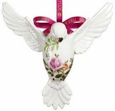 Royal Albert China Series - Christmas Ornaments Dove of Peace