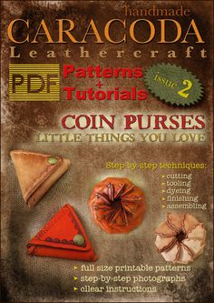 Leather patterns leather pouch templates leather coin by CARACODA