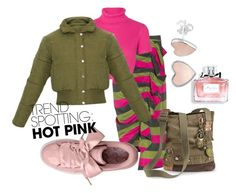 Designer Clothes, Shoes & Bags for Women Isa Arfen, Christian Dior, Military Jacket, Hot Pink, Shoe Bag, Polyvore, Jackets, Stuff To Buy, Shopping