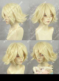 Urahara Kisuke Short Light Blonde Cosplay Wig - free shipping worldwide