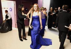 The Best Moments From Inside the Oscars!: Isla Fisher backstage at the 2013 Oscars.