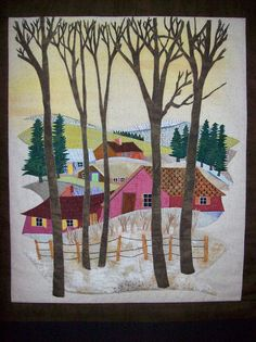 """Festival of quilts 2012 by Wandering Wendz, via Flickr...reminds me of    """"over the river and through the woods to grandmother's house we go"""""""