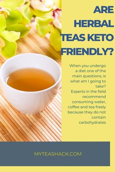 When you undergo a diet one of the main questions, is what am I going to take? Experts in the field recommend consuming water, coffee and tea freely because they do not contain carbohydrates. Iced Tea Recipes, Tea Benefits, High Fat Diet, Herbal Tea, Drinking Tea, Cantaloupe, Herbalism, Low Carb, Keto