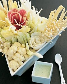 White Crudites - would be pretty for showers and weddings.