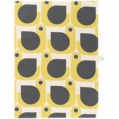 Hen Tea Towel in Mustard House