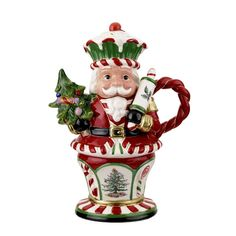 Spode Christmas Tree Nutcracker Peppermint Teapot