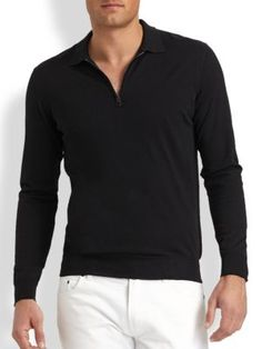 SALVATORE FERRAGAMO Wool Polo Sweater. #salvatoreferragamo #cloth #sweater