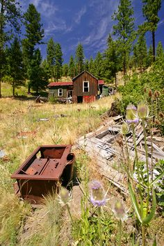 Susanville, Oregon  Abandoned Old mining Town