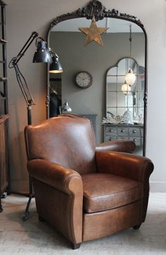 Leather club chairs, Club chairs and Distressed leather on Pinterest