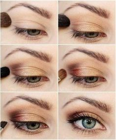 Maroon And Gold Eye Makeup 10 Gold Smoky Eye Tutorials For Fall Pretty Designs Maroon And Gold Eye Makeup Health Beauty Eye Makeup. Maroon And Gold Eye Makeup 45 Fresh Spring Face Makeup Looks For Pretty Lasses. Fall Makeup Tutorial, Makeup Tutorial For Beginners, Diy Tutorial, Makeup Tutorial Blue Eyes, Hooded Eye Makeup Tutorial, Eyeliner Tutorial, Gold Smoky Eye, Sexy Make-up, Smoky Eye Tutorial