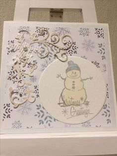 snowmancard for christmas