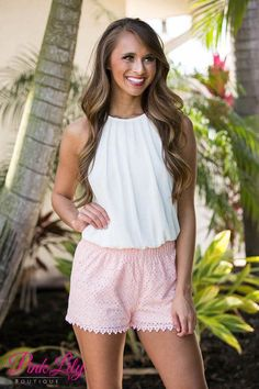 Lakeside Pink Shorts CLEARANCE