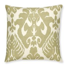 Silk Ikat Medallion Pillow Cover, Neutral #williamssonoma