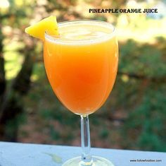 I have an obsession with Pineapple-Orange Juice, and I drink about a gallon a week Refreshing Drinks, Fun Drinks, Yummy Drinks, Juice Smoothie, Smoothie Drinks, Fruit Juice, Smoothie Recipes, Healthy Juices, Healthy Smoothies