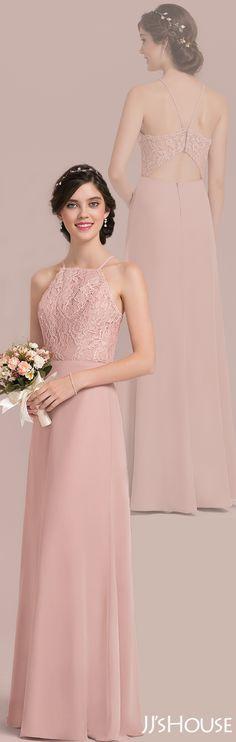 This chiffon lace bridesmaid dress is too good to be true! #JJsHouse #Bridesmaid