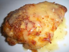 Ritz Cracker Crunchy, Cheezy Chicken  |   Ingredients:  1 package chicken thighs;      1 sleeves Ritz crackers ;          1/2c milk or 1 egg, beaten ;      3 C cheddar cheese, grated ;      1 10oz Can of cream of chicken soup ;      2 tablespoons of sour cream      2 tbsp of butter