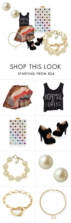 """""""rock & roll princess"""" by alisafranklin on Polyvore featuring Vivienne Westwood, Edie Parker, Chanel, Carolee and Tiffany & Co."""