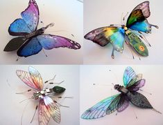 Insects Made of Circuit Board by Julie Alice Chappell  https://www.facebook.com/pages/Julie-Alice-Chappell-Artist/146001165481339?sk=timeline