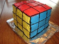 cake for the rubik's cube party!