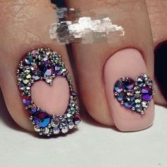 Hot Trendy Nail Art Designs that You Will Love Swarovski Nails, Crystal Nails, Rhinestone Nails, Bling Nails, Bling Bling, Acrylic Nail Art, Acrylic Nail Designs, Nail Art Designs, Design Art